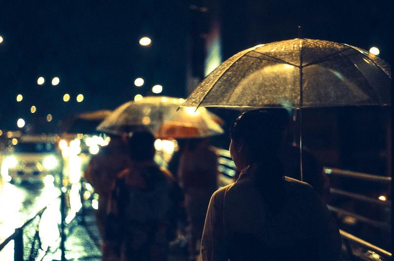 fireworks of adachi, on a rainy day