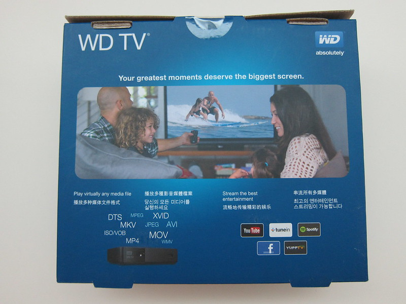 WD TV - Box Back