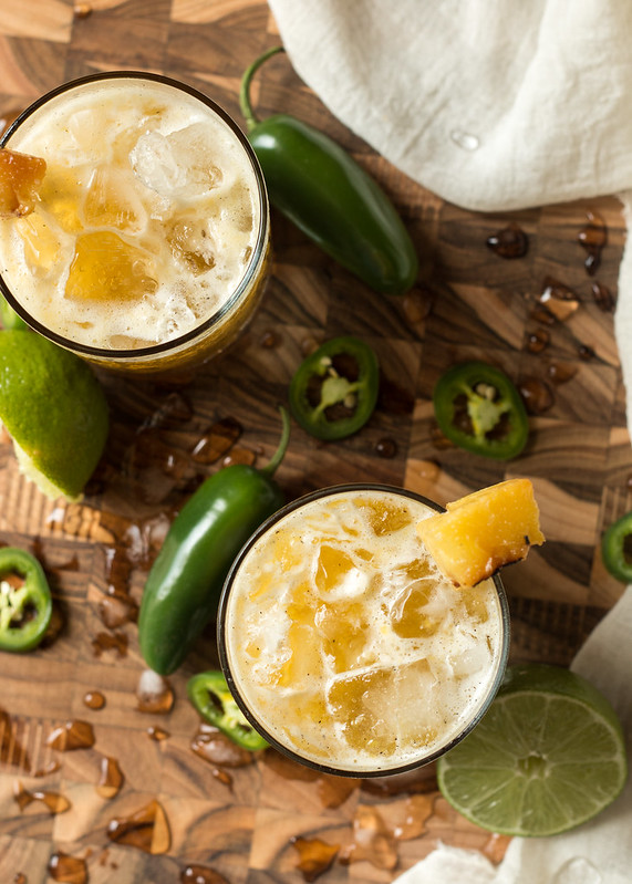 Grilled Pineapple & Jalapeno Mezcal Margarita | Will Cook For Friends