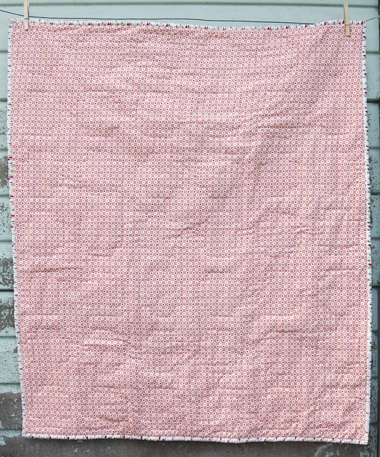 Scrappy Cross Baby Quilt - back