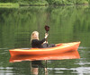 M happy in her kayak
