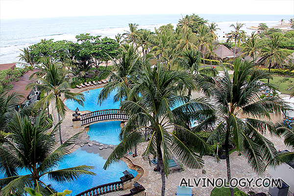 Poolview from the balcony