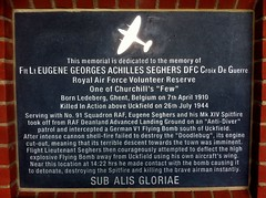 Photo of Eugene Seghers Belgian Blue Stone plaque
