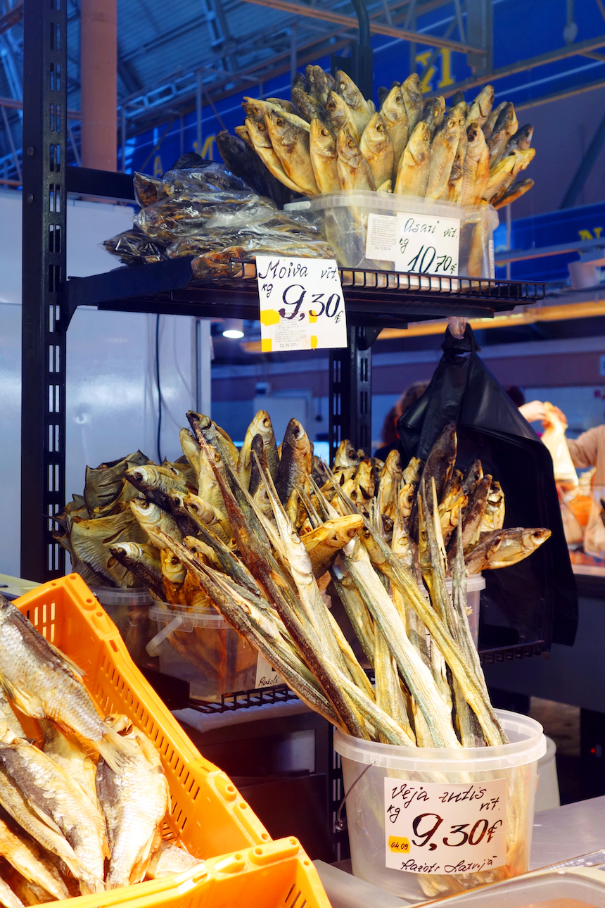 Riga Central Market smoked fish