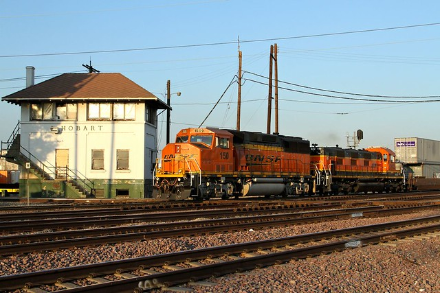 BNSF150 1302 Hobart Tower San Pedro Junction 07 08 2014