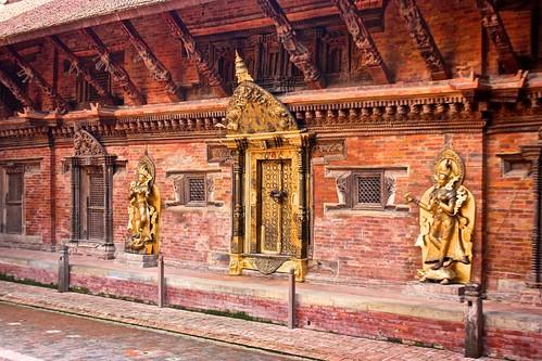 A golden entryway