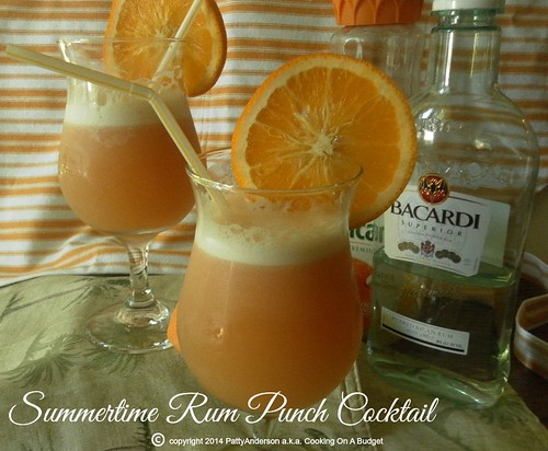 Summertime Rum Punch Cocktail