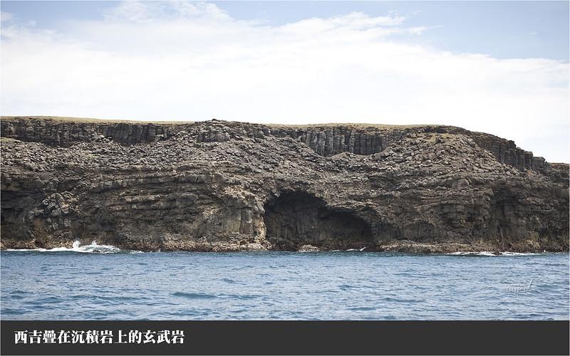 西吉疊在沉積岩上的玄武岩