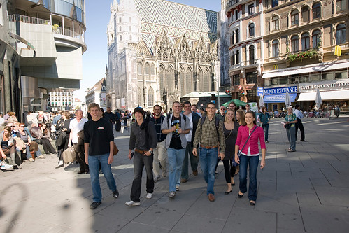 Students on a city tour