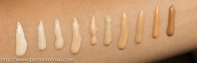 charlotte tilbury foundation swatches and photos (10 of 13)