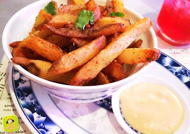 seoul garden - kimchi fries with miso aioli