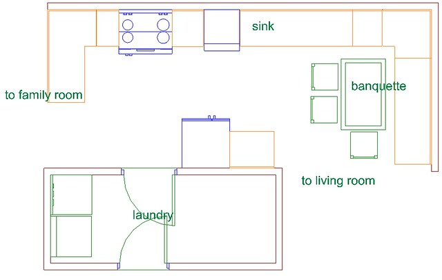 Optional kitchen plan