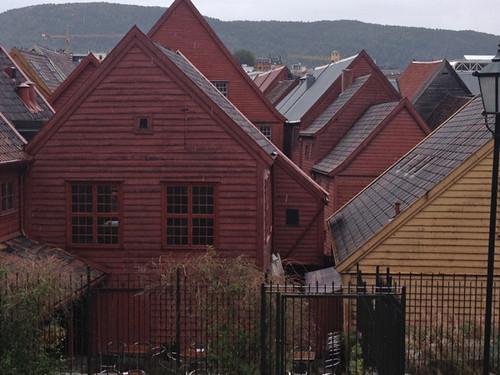 Norway - Bergen 18thC wooden houses Bryggen