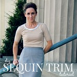 sequin trim sweater tutorial via Kristina J blog