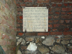 in the crypt: underneath this stone