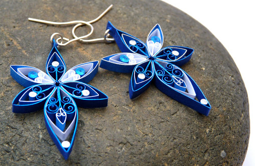 Quilled-Star-Earrings