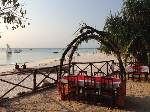 special dinner @ Babobab Beach Resort Zanzibar