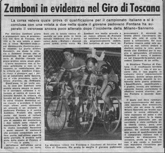Zamboni in evidenza nel Giro di Toscana
