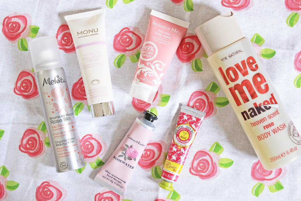 Rose Scented Beauty Products - Melvita, Monu, Balance Me, Figs & Rouge, Crabtree & Evelyn, Naked