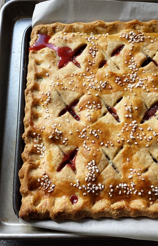 Spiced Plum Slab Pie