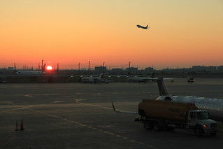 Sunrise in Toronto airport