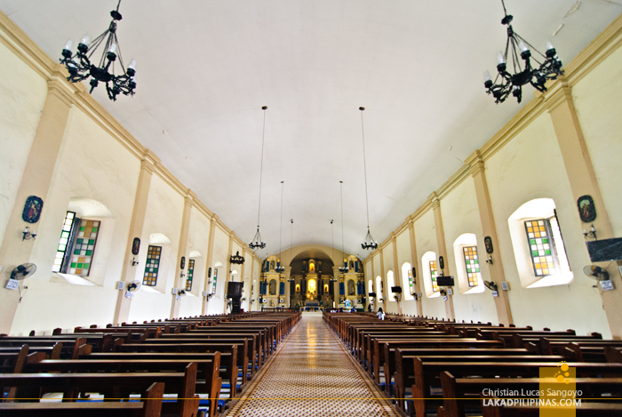 Inside Santa Maria Church in Ilocos Sur