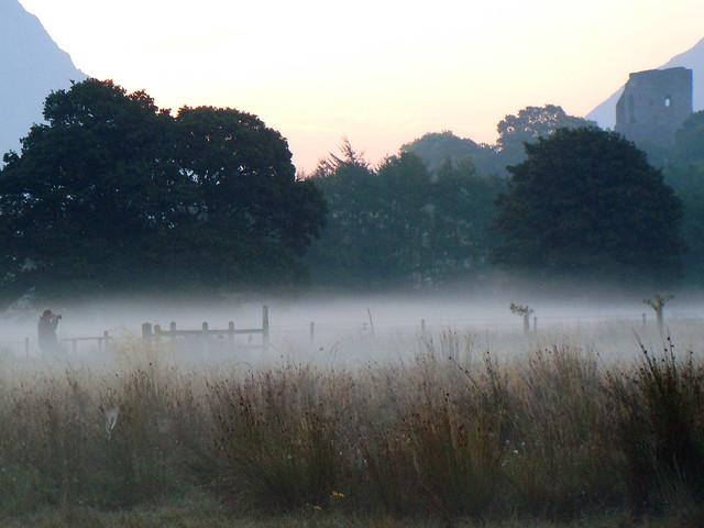 Misty sunrise&Leslie the photographer.