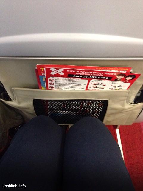 タイ エアアジアXの座席