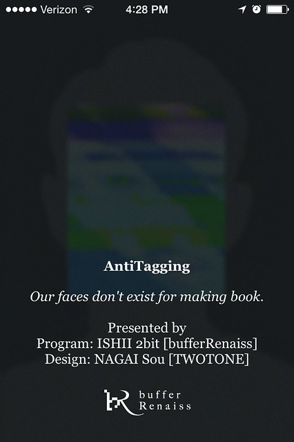 AntiTagging, an app that auto detects faces, then glitches them out.