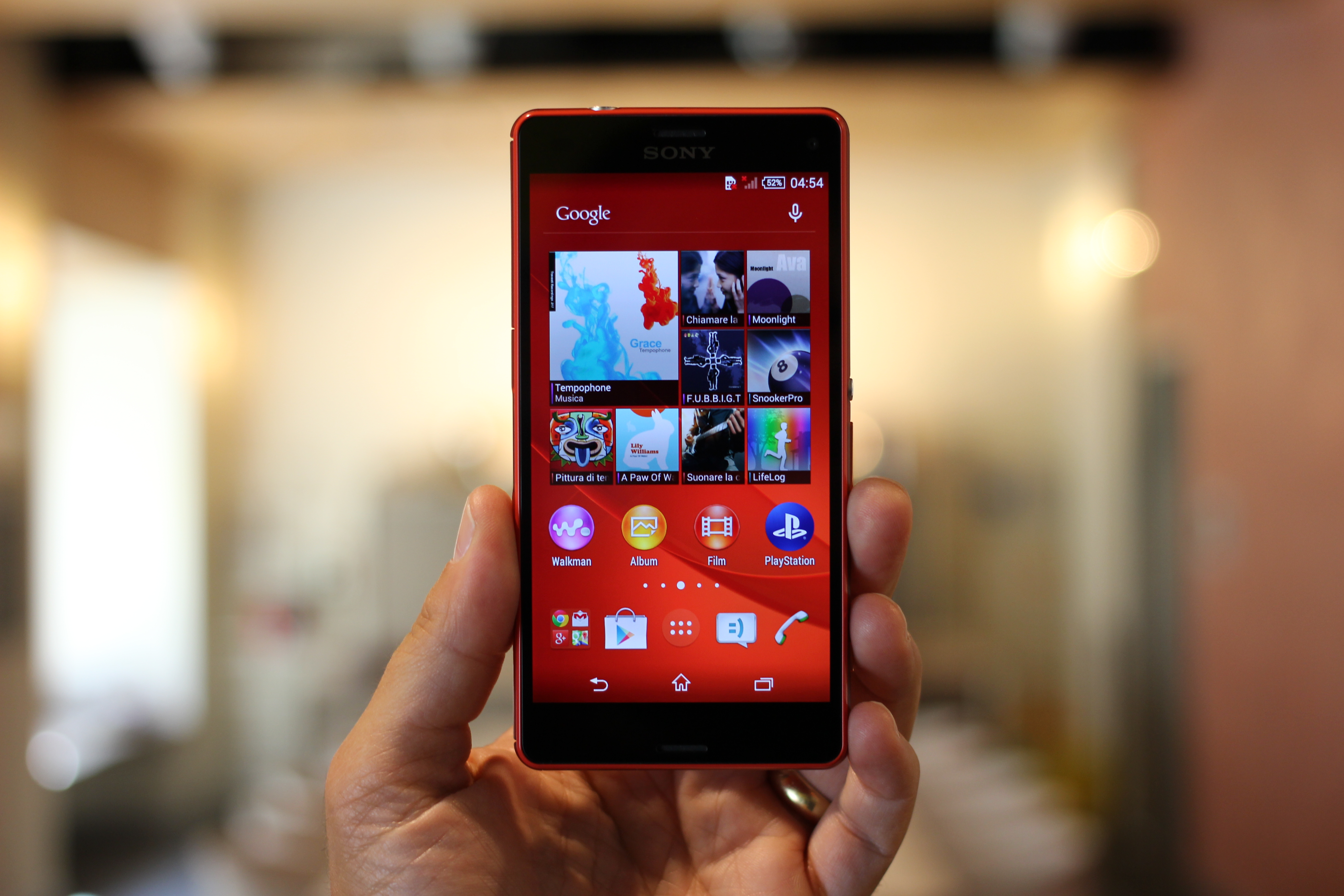 Person Holding Sony Xperia Phone