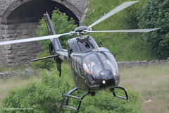 G-TGGR - 2001 build Eurocopter EC120B Colibri, lifting on departure from Buxton during Hillhead 2014