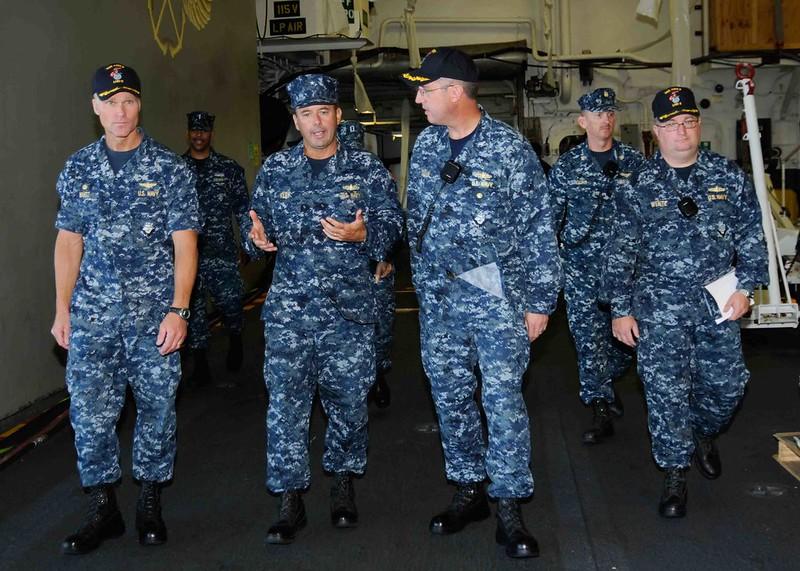 RDML Kilby visits USS Essex
