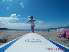 Samu on the SurfBoard