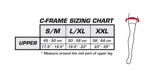 Leatt C-Frame Sizing Chart