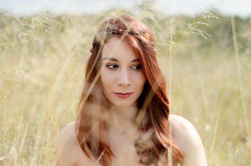 autumn portrait woman green nature girl field grass spring model pretty sydney australia redhead newsouthwales rousehill