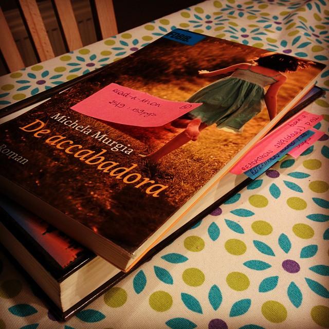 Vanavond las ik De accabadora en een stukje in Freedom, goed voor 209 pagina's. Stavaza na 4 dagen #readathon: 966 pagina's. Nog maar 434 te gaan om mijn doel te bereiken!