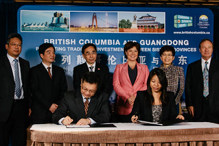 Guangdong opens first Canadian trade office in BC