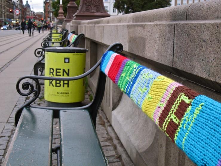 Yarnbombing in Copenhagen