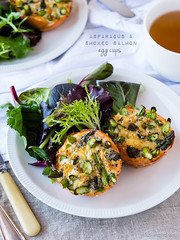 Asparagus & Smoked Salmon Egg Cups
