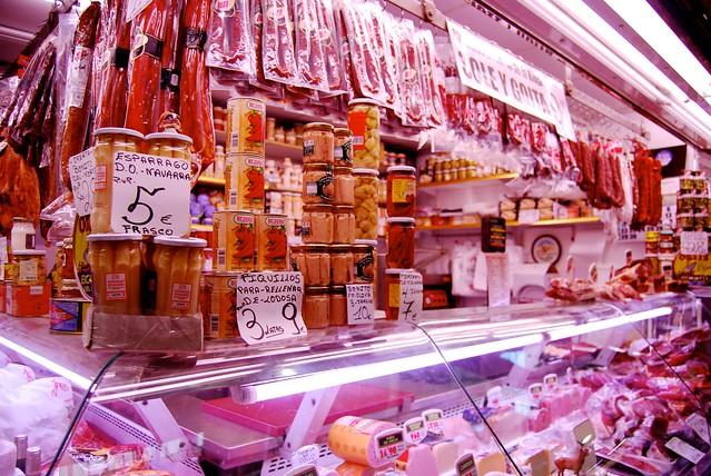 Meat at the Logroño City Indoor Food Market