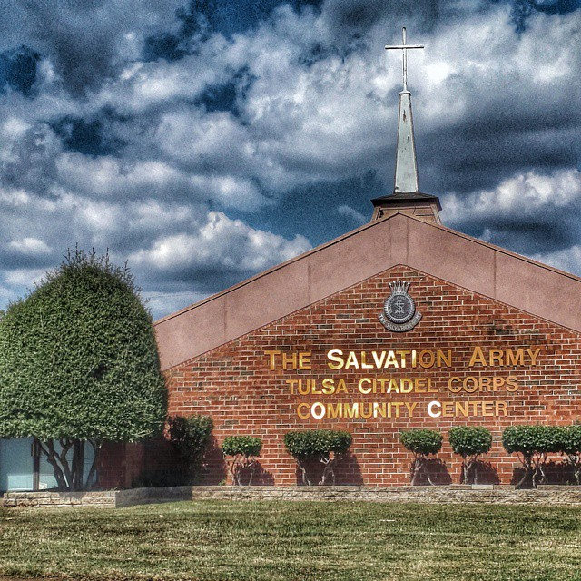 I stumbled across the #salvationarmy shiniest #letteri I ever saw #churches #signs #tulsa #oklahoma #igersok #igerstulsa