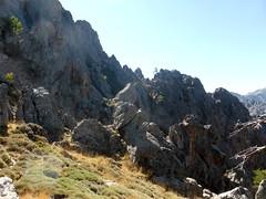 La suite supposée du parcours vers Vetta di Muru : traversée de pentes raides