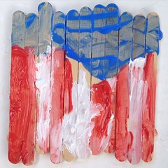 Ashlin #painted an #American #flag too. #artsandcrafts