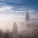 Fog and Midtown, NYC by RBudhu