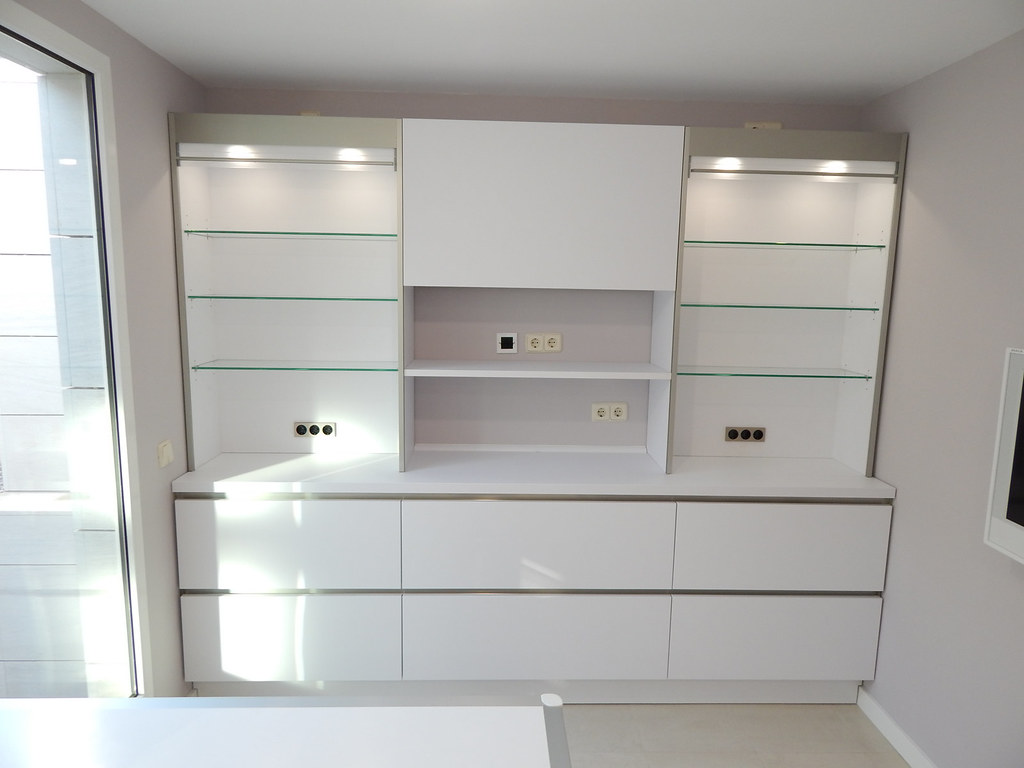 Muebles de cocina laser gris perla y blanco  cocinasalemanascom