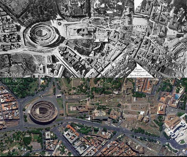 Roma dall'alto: Zona Archeologica
