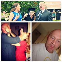 To the man who gave me life and taught me bald is beautiful: HAPPY FATHERS DAY POPS! I owe all of my grace and good looks to you #happyfathersday #imnotgraceful #loveyoudad