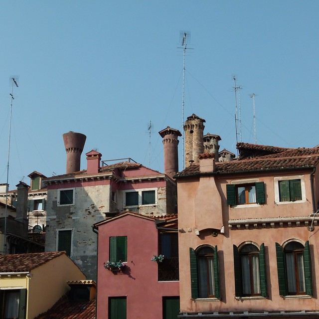Chimneys and aerials - Venice, October 2011