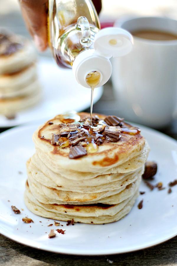 Rees'es Peanut Butter Cup  Peanit Butter Pancakes