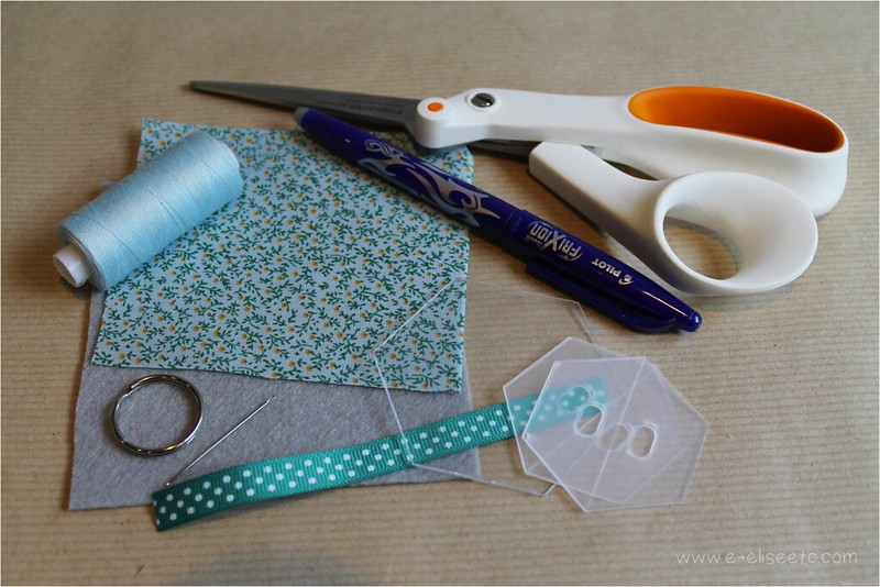 patchwork hexagon keyrings sewing diy crafts tutorial